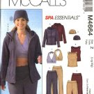 McCall's Sewing Pattern 4664 Misses Size 4-14 Spa Essentials Hooded  Jacket Halter Tops Pants Hat