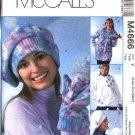 McCall's Sewing Pattern 4666 Misses Size 16-22 Zipper Front Fleece Jacket Hats Mittens