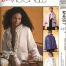 McCall's Sewing Pattern 4667 Misses Size 4-14 Easy Unlined Fleece Long Sleeved Jacket Scarf