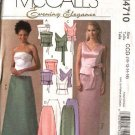 McCall's Sewing Pattern 4710 Misses Size 6-12 Formal Evening Prom Sleeveless Strapless Tops Skirts