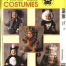 McCall's Sewing Pattern 8938 Girls Boys Toddlers Size 2 Skunk Lion Monkey Elephant Panda Costume