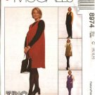 McCall's Sewing Pattern 8974 Misses Size 6-10 Easy Maternity Wardrobe Jumper Tunic Top Knit Leggings