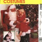 "McCall's Sewing Pattern 8992 Mens Chest Size 42-44"" Santa Claus Costume Gift Bag Stuffed Santa Doll"