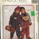 McCall&#39;s Sewing Pattern 9042 Boys Girls Size 4-5-6 Overalls Unlined Jacket Top Hat Blanket Roll