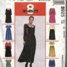 McCall's Sewing Pattern 8925 Misses Size 6-10 Easy Raised Waist Gathered Skirt Dresses