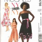 McCall's Sewing Pattern 4766 Junior Size 3/4-9/10 Lined Party Strapless Flared Skirt Prom Dress