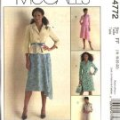 McCall's Sewing Pattern 4772 Misses Size 8-14 Lined Jacket Skirt Suit Button Front Dress