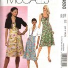 McCall's Sewing Pattern 4830 Misses Size 6-12 Lined Short Jacket Sleeveless Dress