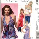 McCall's Sewing Pattern 4834 Misses Size 12-18 Halter Raised Waist Tops Tunics