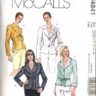 McCall's Sewing Pattern 4841 Misses Size 4-10 Unlined  Fitted Button Front Jackets