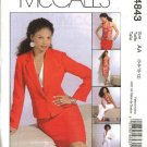 McCall's Sewing Pattern 4843 Misses Size 6-12 Wardrobe Halter Top Skirt Lined Jacket Pants