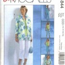 McCall's Sewing Pattern 4844 Misses Size 6-12 Easy Wardrobe Shirt-Jacket Pants Top Shell Skirt