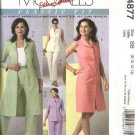 McCall's Sewing Pattern 4877 Misses Size 12-18 Classic Wardrobe Button Front  Dress Duster Pants Top