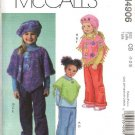 McCall's Sewing Pattern 4906 Girls Size 4-5-6 Ponchos Pull On Cropped Long Pants Hat Beret