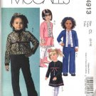 McCall's Sewing Pattern 4913 Girls Size 6-8 Cardigan Jacket Pull On A-Line Skirt Long Pants
