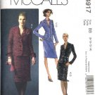 McCall's Sewing Pattern 4917 Misses Size 6-12 Lined Jackets Straight Skirts Suit
