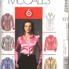 McCall's Sewing Pattern 4922 Misses Size 14-20 Easy Princess Seam Button Front Shirt Blouse Top