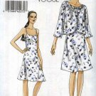 Vogue Sewing Pattern 8490 V8490 Misses Size 8-16 Easy Raised Waist Empire Slip Lined Dress Jacket