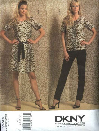 Vogue Sewing Pattern 1013 Misses Size 14-20 DKNY Wardrobe Dress Top Belt Camisole Slip Pants