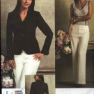Vogue Sewing Pattern 2957 Misses Size 6-12 Anne Klein Lined Long Sleeve Jacket Pants Pantsuit