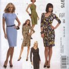 McCall's Sewing Pattern 5975 Misses Size 16-24 Straight Knit Dresses Sleeve Neckline Variations