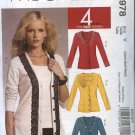 McCall's Sewing Pattern 5978 Misses Size 4-14 Easy Embellished Cardigans Sleeveless Top Shell