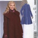 McCall's Sewing Pattern 5986 Misses Size 8-16 Lined Winter Fall Coat Front Zipper Closure