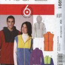 "McCall's Sewing Pattern 5991 Misses Mens Chest Sizes 46-56"" Easy Unlined Vests Jackets Tops"
