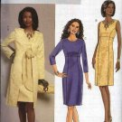 Butterick Sewing Pattern 5396 Misses Size 8-14 Easy Lined Princess Seam Straight Dress Coat Duster