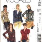 McCall's Sewing Pattern 4928 Misses Size 4-10 Lined Long Short Sleeved Button Front Jackets