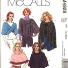 McCall's Sewing Pattern 4929 Misses Size 8-14 Knit Capelets Wraps Ponchos Capes