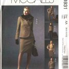 McCall's Sewing Pattern 4931 Misses Size 6-12 Wardrobe Jacket Skirt Pants Faux Fur Collar Suit