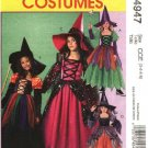 McCall's Sewing Pattern 4947 Girls Size 7-12 Halloween Costume Witch Princess Dress Hat
