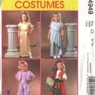 McCall's Sewing Pattern 4949 Girls Size 2-5 Easy Halloween Costumes Gypsy Genie Greek Toga