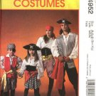 McCall's Sewing Pattern 4952 Boys Girls Size 3-8 Pirate Halloween Costumes