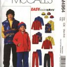 McCall's Sewing Pattern 4964 Boys Size 3-6 Easy Fleece Wardrobe Jacket Vest Pants Hat