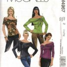 McCall's Sewing Pattern 4967 Misses Size 16-22 Knit Pullover Tops Neckline Sleeve Variations
