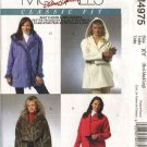 McCall's Sewing Pattern 4975 Misses Size 20-26 Classic Fit Hooded Snap Front Lined Fleece Jackets