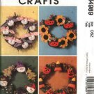 McCall's Sewing Pattern 4989 Easter Summer Christmas Halloween Holiday Wreaths