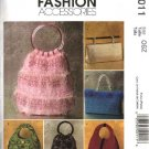 McCall's Sewing Pattern 5011 Fashion Accessories Lined Handbags Purses Bags Pocketbooks