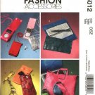 McCall's Sewing Pattern 5012 Fashion Accessories Tote Cell Phone MP3 Player Cases Checkbook Cover