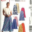 McCall's Sewing Pattern 5023 Misses Size 12-18 Easy Flared Bias Skirts