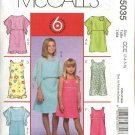 McCall's Sewing Pattern 5035 Girls Size 7-12 Easy Ponchos Lined Sleeveless Dresses