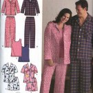 "Simplicity Sewing Pattern 3971 Mens Womens Chest Size 52-62"" Easy Pajamas Pants Tank Top"