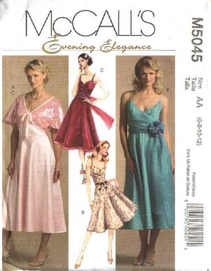 New Arrival 2013 Mccall Frilly Cocktail Dress Pattern
