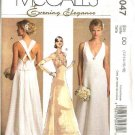 McCall's Sewing Pattern 5047 Misses Size 12-18 Wedding Dress Bridal Gown Formal Evening Prom