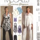 McCall's Sewing Pattern 5048 Misses Size 6-12 Formal Halter Top Camisole Poncho Pants