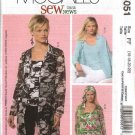 McCall's Sewing Pattern 5051 Misses Size 16-22 SewNews Button Front Shirt Top Scarf Twinset
