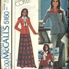 Retro McCall's Sewing Pattern 5160 Misses Size 8 Marlo Thomas Suit Jacket Skirt Pants