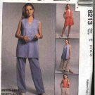 McCall's Sewing Pattern 8213 Misses Size 14-18 Easy Wardrobe Skirt Pants Button Front Vest Shorts